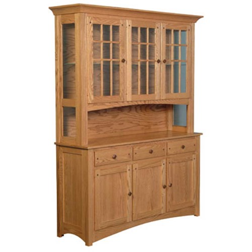 Simply Amish Royal Mission Royal Mission Open Hutch with 3 Mullion Doors