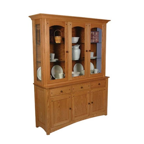 Simply Amish Royal Mission Royal Mission Closed Hutch with 3 Arch Doors