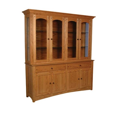 Simply Amish Royal Mission Royal Mission Closed Hutch with 4 Arch Doors