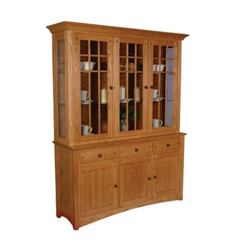 Simply Amish Royal Mission Royal Mission Closed Hutch with 3 Mullion Doors