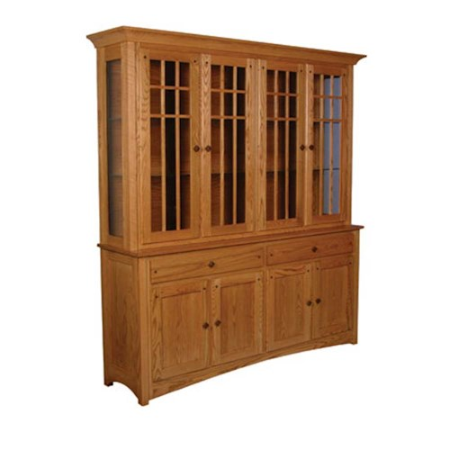 Simply Amish Royal Mission Royal Mission Closed Hutch with 4 Mullion Doors