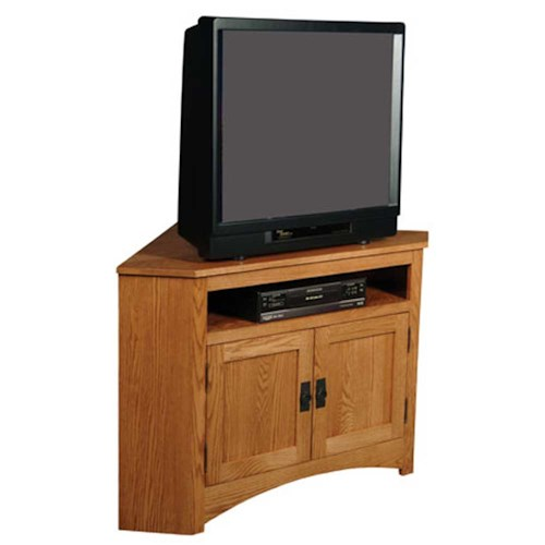 Simply Amish Prairie Mission Prairie Mission Open Corner TV Stand