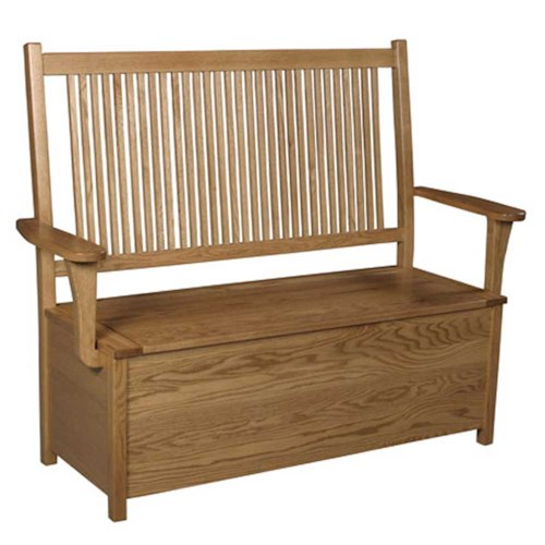 Simply Amish Prairie Mission Prairie Mission Storage Bench