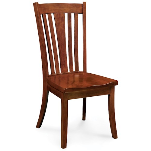 Simply Amish Loft Parkway Side Chair with Curved Slats