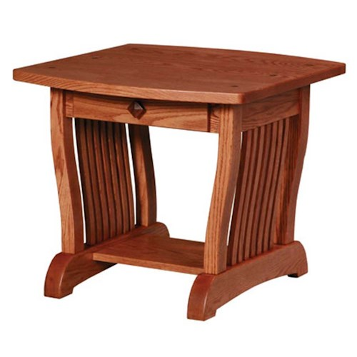 Simply Amish Royal Mission Royal Mission Drawer End Table