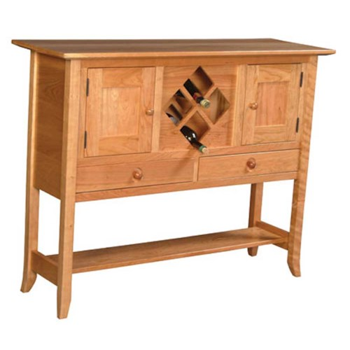 Simply Amish Shaker Amish Shaker Hill Sideboard Wine Rack
