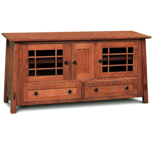 Simply Amish McCoy TV Stand with 3 Doors