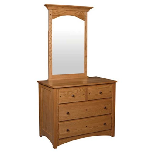 Simply Amish Royal Mission Royal Mission Short Chest with Mirror