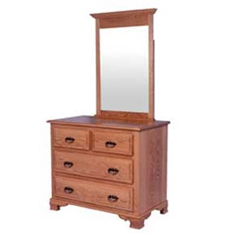 Simply Amish Classic Classic Short Chest and Mirror