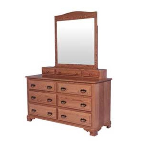 Simply Amish Classic Classic Dresser and Vanity Mirror