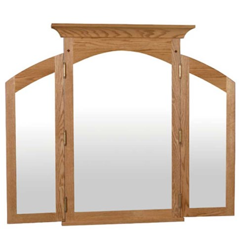 Simply Amish Royal Mission Royal Mission Tri-View Mirror
