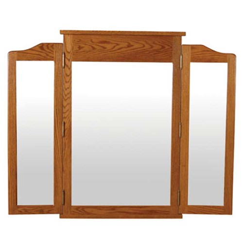 Simply Amish Shaker Amish Shaker Tri-View Mirror