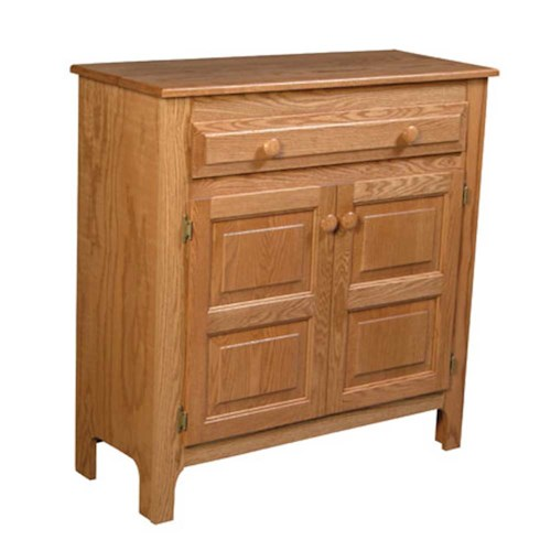 Simply Amish Country Country 1-Drawer Pie Safe