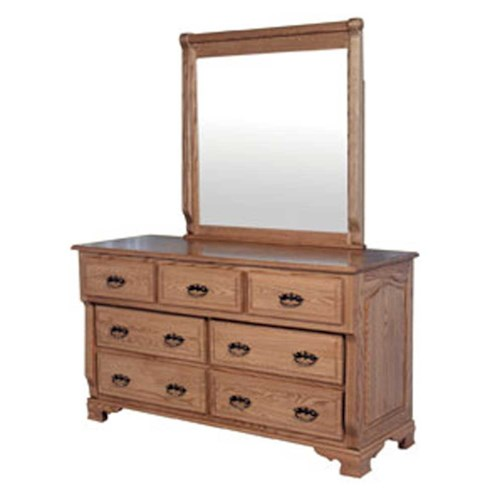 Simply Amish Heritage Amish Heritage 7-Drawer Dresser and Mirror