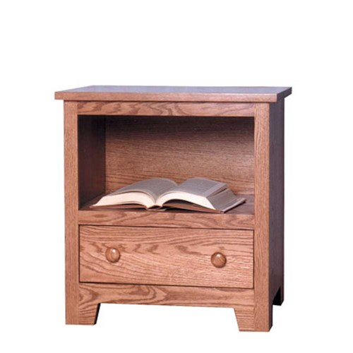 Simply Amish Shaker Amish Shaker Nightstand with Opening