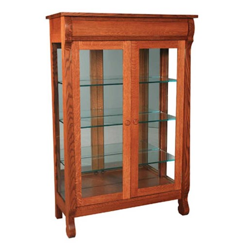 Simply Amish Empire Empire Display Cabinet