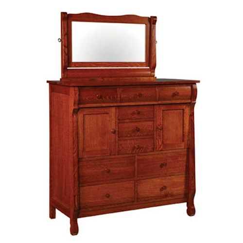 Simply Amish Empire Empire His and Her Chest and Beveled Mirror