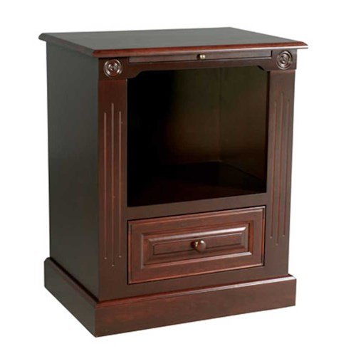 Simply Amish Imperial Amish Imperial Deluxe Nightstand with Opening