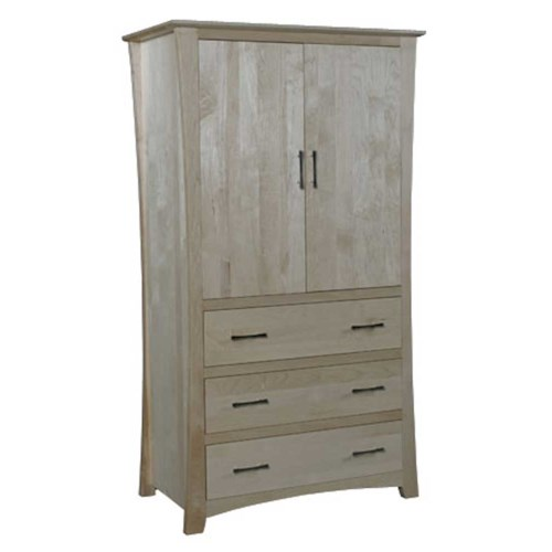 Simply Amish Loft Loft 3-Drawer Wardrode