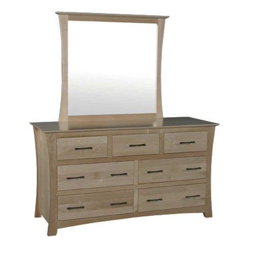 Simply Amish Loft Loft 7-Drawer Dresser and Dresser Mirror