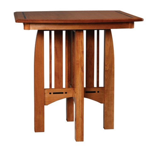 Simply Amish Aspen Pub Table with Ebony Inlay