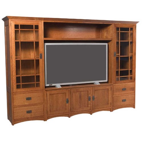 Simply Amish Prairie Mission Prairie Mission Wall Unit Entertainment Center