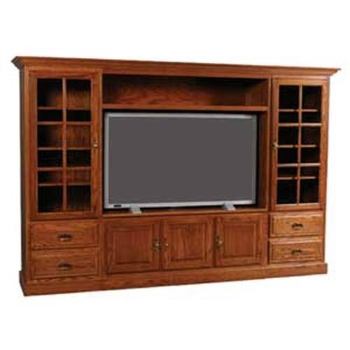 Simply Amish Classic Classic Wall Unit Entertainment Center