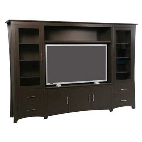 Simply Amish Loft Loft Wall Unit Entertainment Center