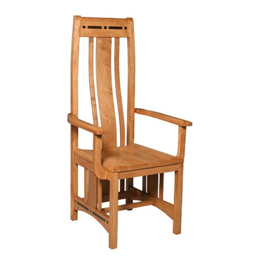 Simply Amish Aspen Wood Seat Arm Chair