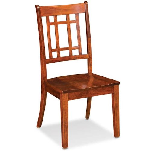 Simply Amish Shenandoah Campbell Side Chair with Lattice Back