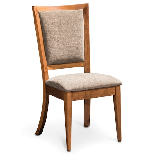 Simply Amish Studio Riverton Side Chair with Upholstered Seat and Back