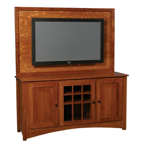 Simply Amish Royal Mission Royal Mission Plasma Back TV Stand