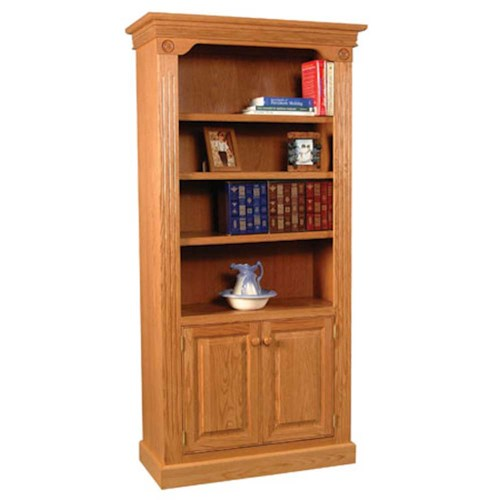Simply Amish Imperial Amish Imperial Bookcase w/ Wood Doors