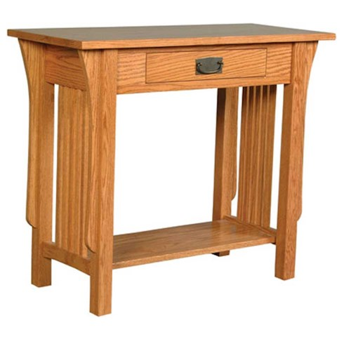 Simply Amish Prairie Mission Prairie Mission 1-Drawer Console Table