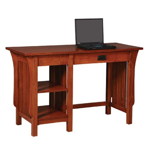 Simply Amish Prairie Mission Prairie Mission 2-Shelf Writing Table