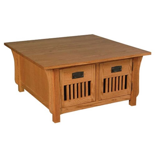 Simply Amish Prairie Mission Prairie Mission 4-Door Square Coffee Table