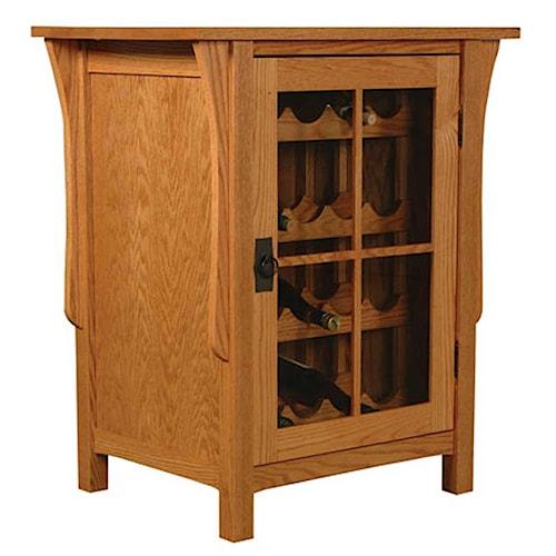 Simply Amish Prairie Mission Prairie Mission Wine Cabinet