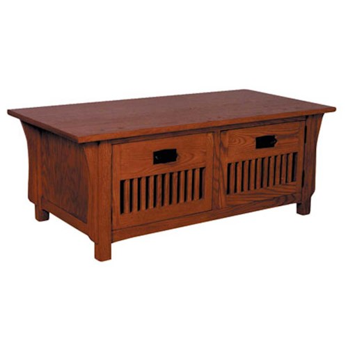 Simply Amish Prairie Mission Prairie Mission Door Coffee Table