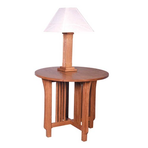 Simply Amish Prairie Mission Prairie Mission Round Lamp Table