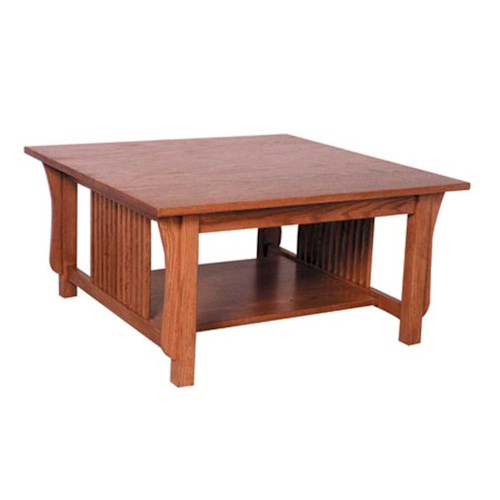 Simply Amish Prairie Mission Prairie Mission Square Coffe Table