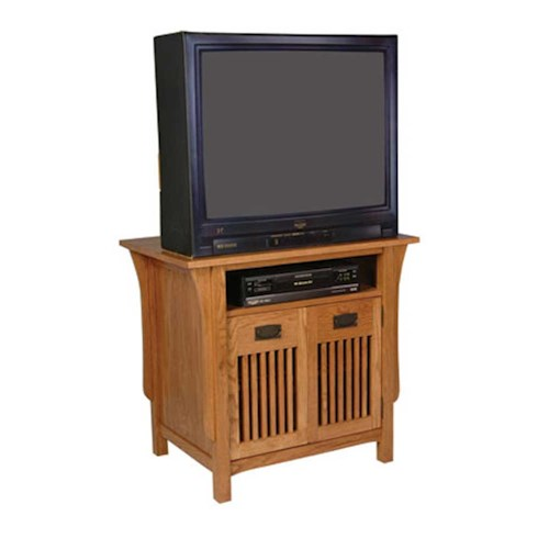 Simply Amish Prairie Mission Prairie Mission TV Stand with Doors