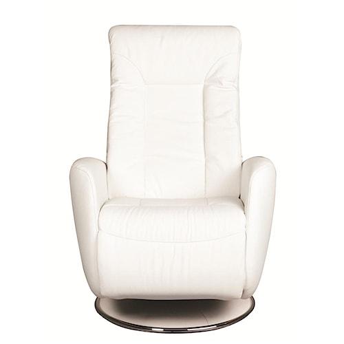 Morris Home Furnishings Christina 100% Leather Swivel Recliner *Floor Models Only