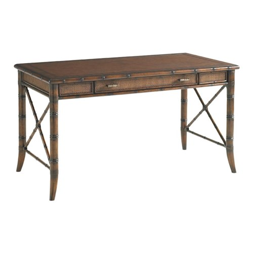 Sligh Bal Harbour 293SA Marianna Writing Desk with Leather Top and Drop-Front Keyboard Drawer