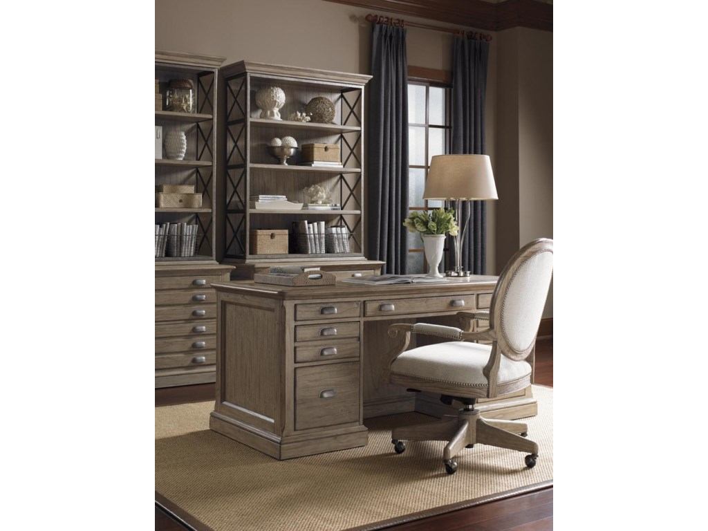 Shown with Bradshaw Desk Chair and Johnson File Chests with Deck