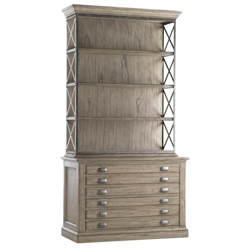 Sligh Barton Creek 2 Drawer Johnson File Chest with Deck