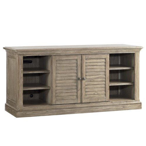 Sligh Barton Creek Travis TV Console with Swinging Louvered Doors