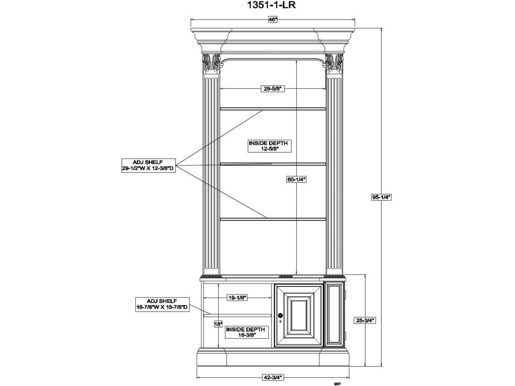 Bookcase Combination Line Art