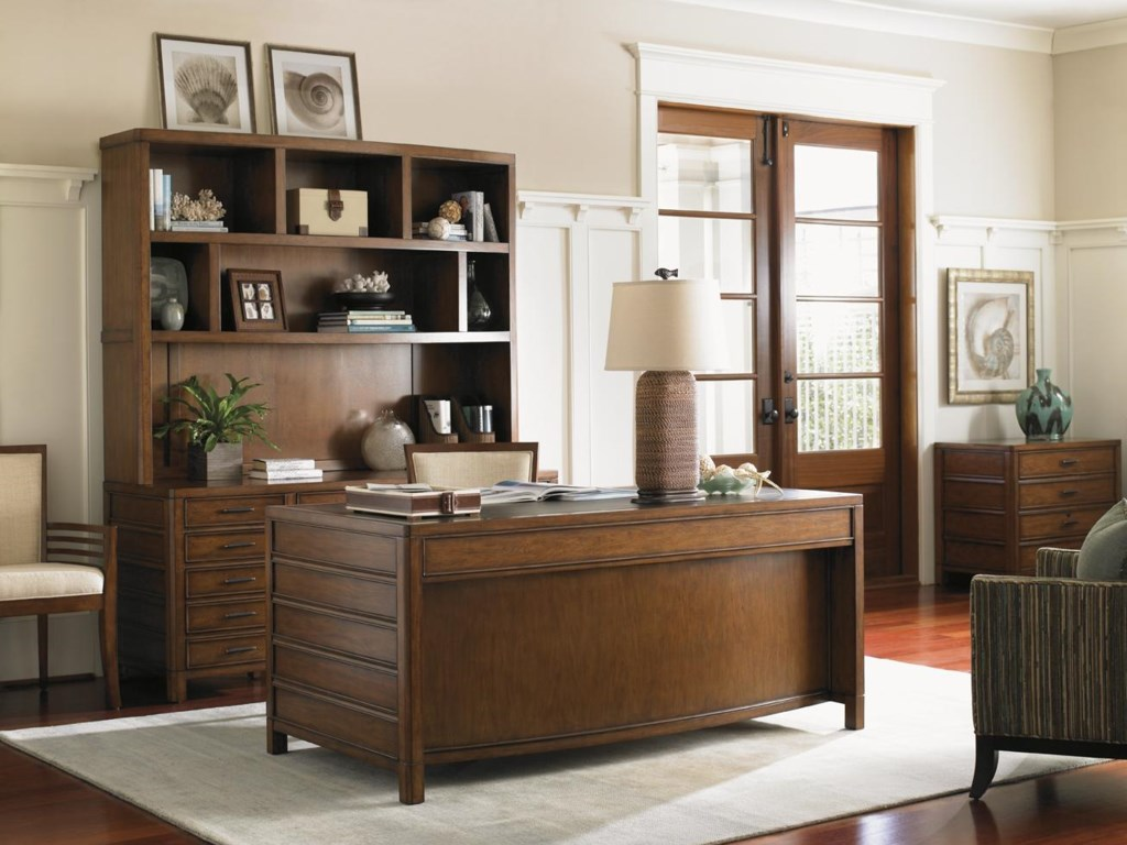 Shown with Key Biscayne Credenza, Deck, Bay Shore File Chest and Kowloon Side Chair