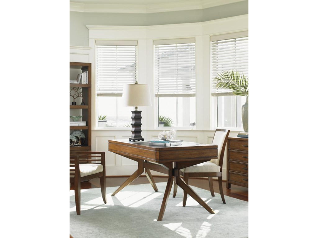 Shown with Lidos Shore Desk, Kowloon Arm Chair, and Crystal Sands Bookcase