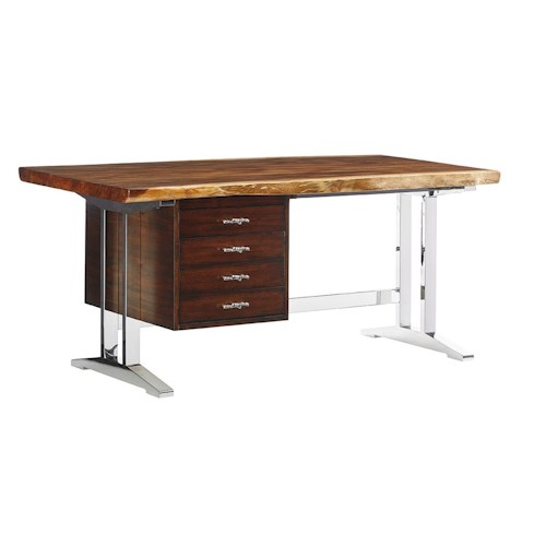 Sligh Studio Design La Costa Writing Desk with Live Edge Wood Top